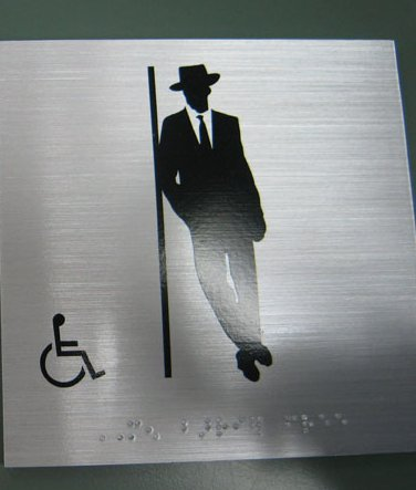 Non Ada Bathroom signcollection blog - where to put a non-ada compliant custom