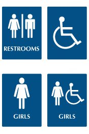Bathroom Signs Ada signcollection blog - how washroom signs have evolved through the