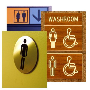 SignCollection Blog Custom Bathroom Signs Things You Need To - Custom bathroom signs