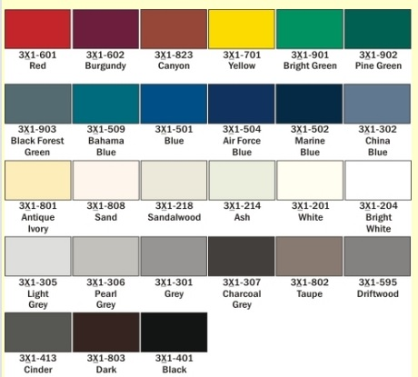 Rowmark Colors for ADA Signs