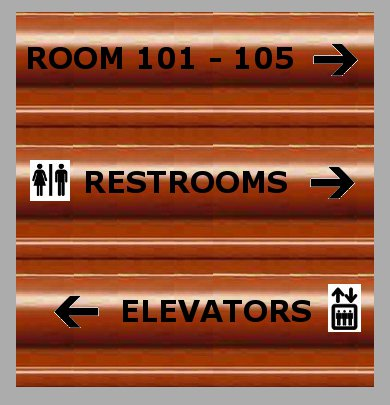 Interior Office Signs - Corrugated Plastic Sign