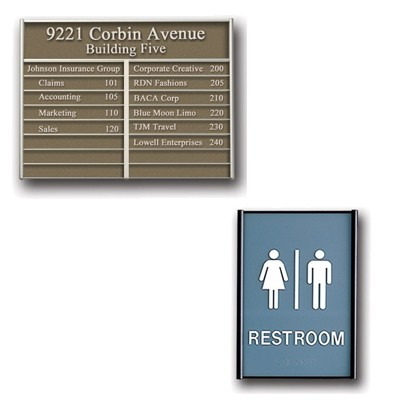 Door Signs, Directories, and Directional Signs