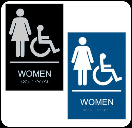 Women's Bathroom ADA Signs